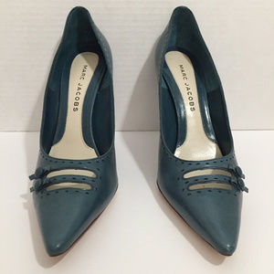MARC JACOBS Teal Leather Heels (2003), Euro 39